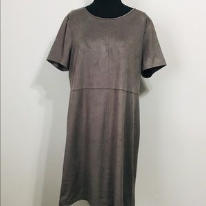Vince Camuto Faux Suede lined Career Dress